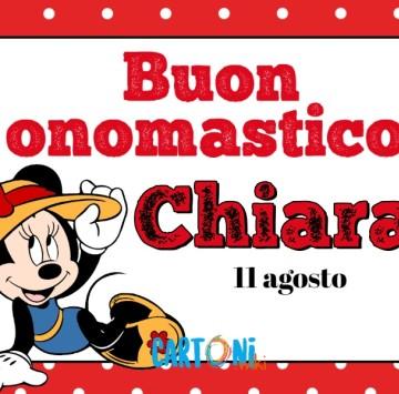 Buon Onomastico Chiara - Cartoni animati