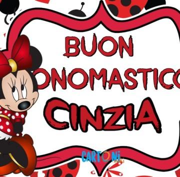 Buon onomastico Cinzia - Cartoni animati