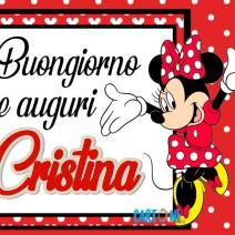 Buongiorno e auguri Cristina - Buon onomastico
