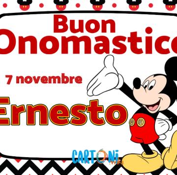Buon onomastico Ernesto - Cartoni animati