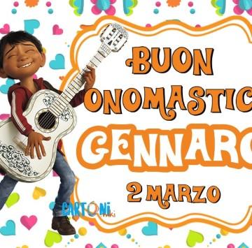 Buon onomastico Gennaro 2 marzo - Cartoni animati