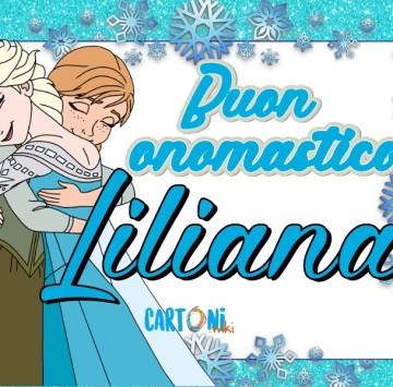 Buon onomastico Liliana - Cartoni animati