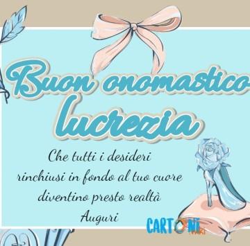 Buon onomastico Lucrezia - Cartoni animati