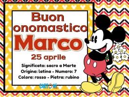 Buon onomastico Marco