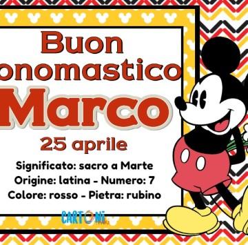Buon onomastico Marco - Cartoni animati