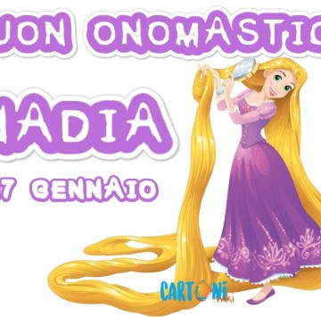 Buon onomastico Nadia - Cartoni animati