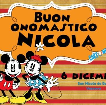 Buon Onomastico Nicola - Cartoni animati