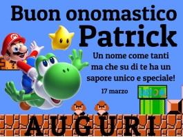 Buon onomastico Patrick