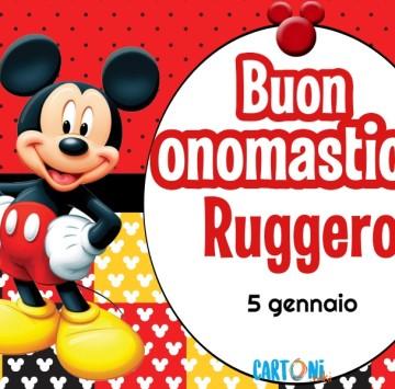 Buon onomastico Ruggero - Cartoni animati