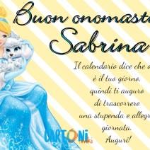 Buon onomastico Sabrina - Buon onomastico