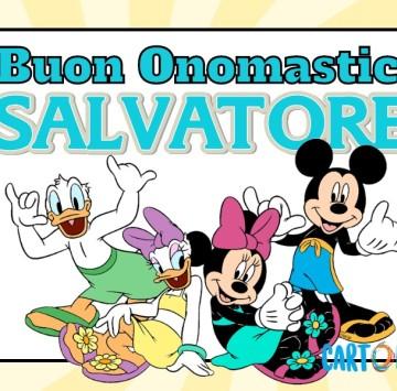 Auguri buon onomastico Salvatore - Cartoni animati