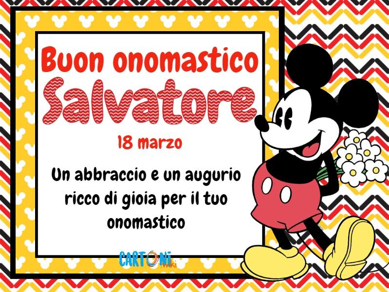 Buon onomastico Salvatore - Cartoni animati