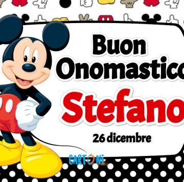 Buon onomastico Stefano - Cartoni animati