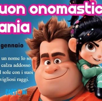 Buon onomastico Tania - Cartoni animati