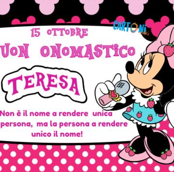 Buon onomastico Teresa - Cartoni animati