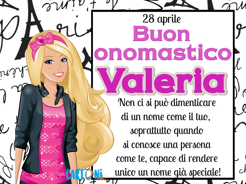 Onomastico Valeria 28 aprile - Cartoni animati