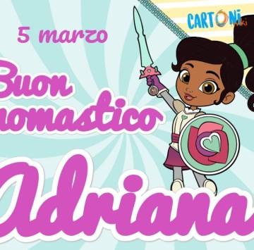 Buon onomastico Adriana - Cartoni animati