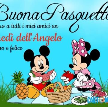 Buona Pasquetta auguro a tutti i miei amici - Cartoni animati