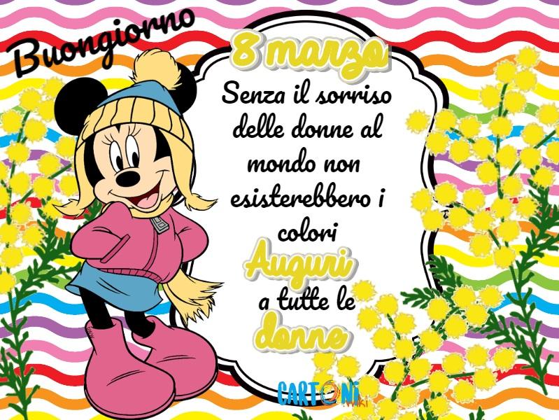 Buona festa della donne 8 marzo - Cartoni animati