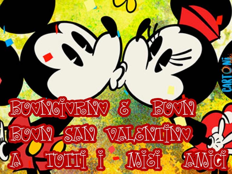 Amici Buongiorno e buon San Valentino - Cartoni animati