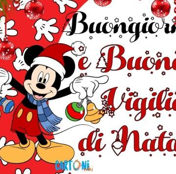 Buongiorno e Buona Vigilia di Natale - Cartoni animati