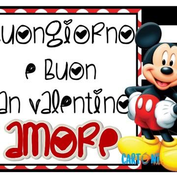 Buongiorno e Buon San Valentino Amore con Topolino - Cartoni animati