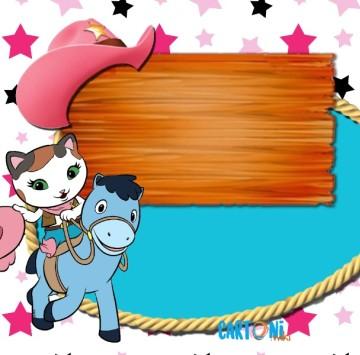 Callie Sceriffa del West biglietto auguri - Cartoni animati
