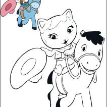 Callie con il suo amico Sparky da colorare - Disegni da colorare