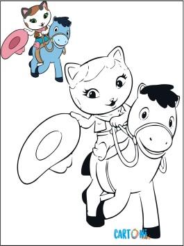 Callie con il suo amico Sparky da colorare