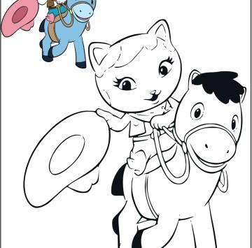 Callie con il suo amico Sparky da colorare - Cartoni animati