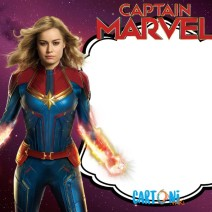 Captain Marvel birthday party invitation - Inviti feste compleanno