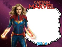Captain Marvel birthday party invitation