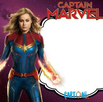 Captain Marvel birthday party invitation - Cartoni animati