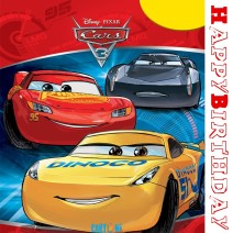 Happy Birthday Cars 3 Card - Happy birthday