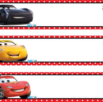 Cars 3 Crea inviti online - Cartoni animati