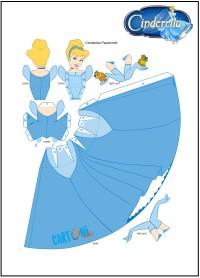 Cenerentola bambola di carta da stampare - Attività per bambini