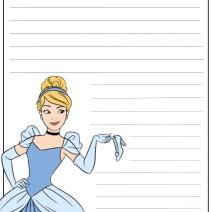 Cenerentola carta da lettere per bambini - Carta da lettere
