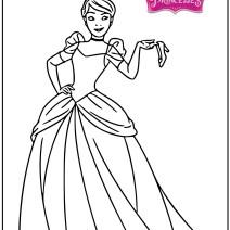 Disney Cenerentola disegni - Stampa e colora