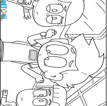 Disegni da colorare Charlie è tardi - Cartoni animati