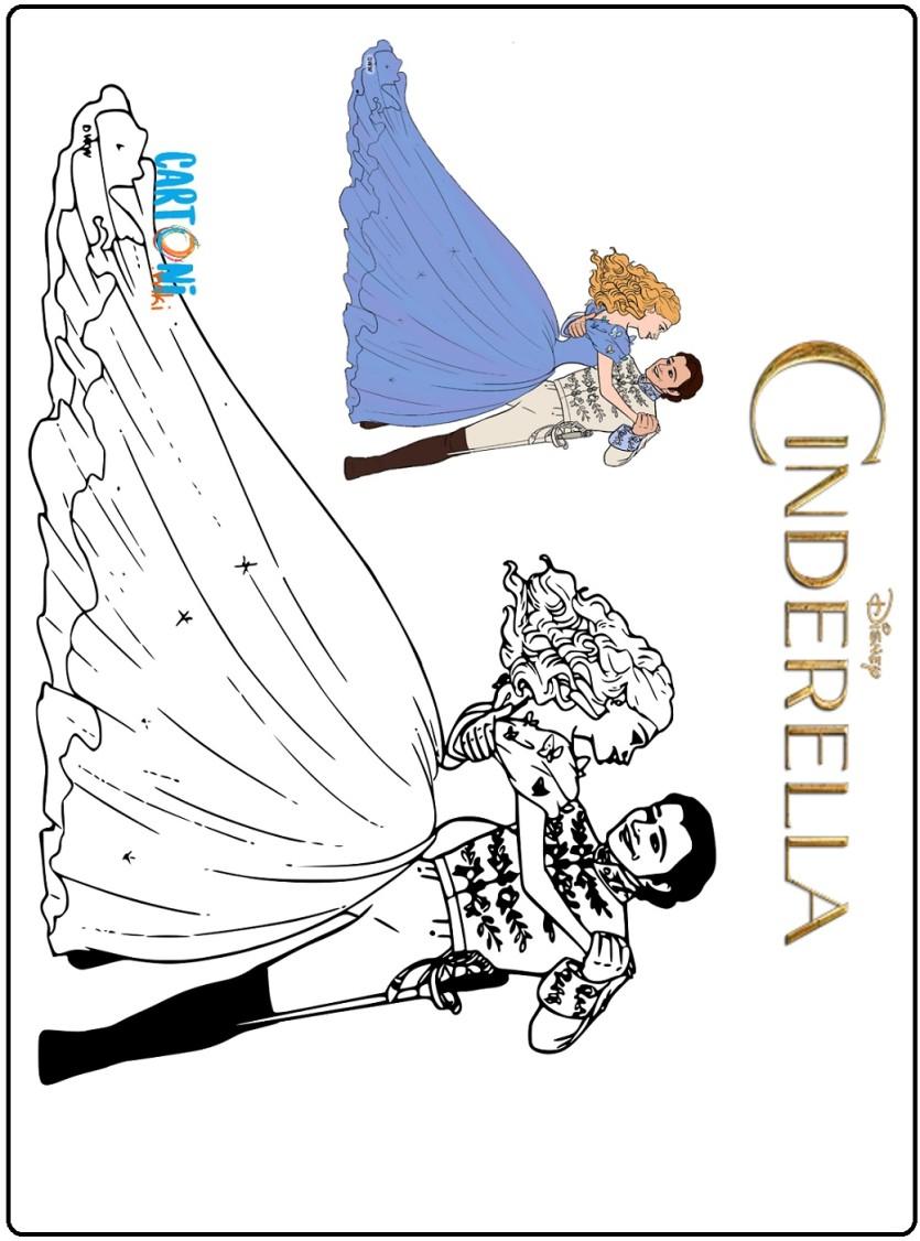 Cinderella live action disegni da colorare - Cartoni animati