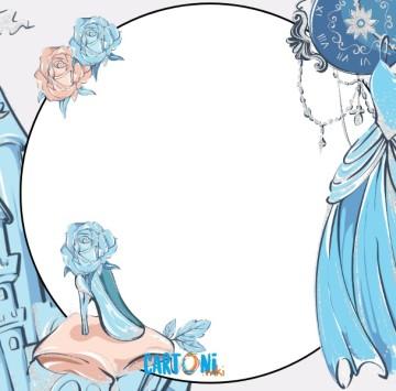 Cinderella Party invitation printable - Cartoni animati