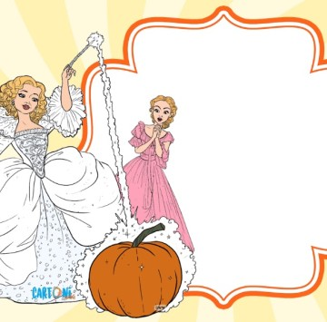 Cinderella party invitation - Cartoni animati