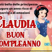 Buon compleanno Claudia con Biancaneve - Claudia