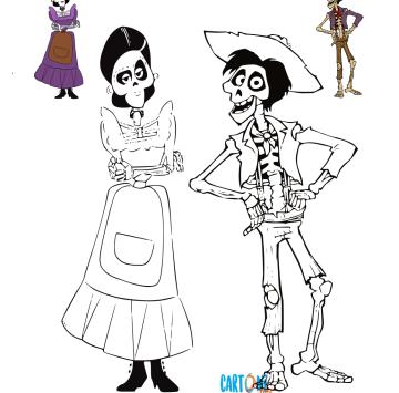 Coco Disegni da colorare - Cartoni animati