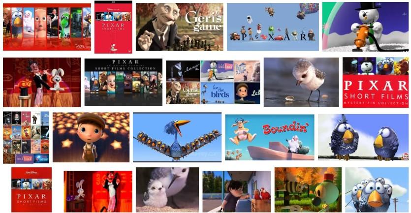 Cortometraggi Pixar - Elenco completo - Cartoni animati