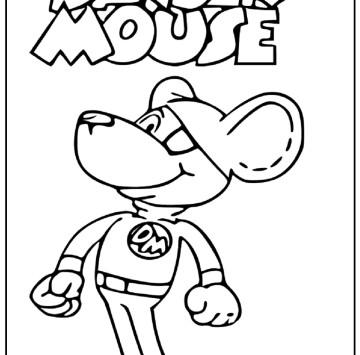 Danger Mouse disegni da colorare - Cartoni animati