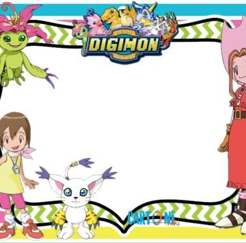 Digimon inviti festa compleanno - Cartoni animati