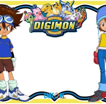 Digimon party invitation maker - Cartoni animati