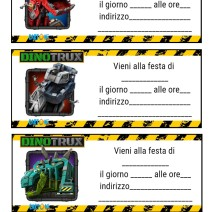Inviti feste compleanno Dinotrux - Inviti compleanno bambini