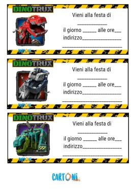 Inviti feste compleanno Dinotrux